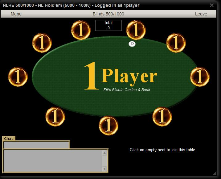 1 Player Poker Room